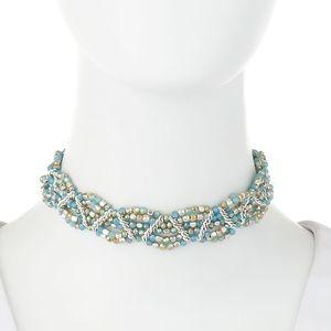 Nakamol Amazonite Beaded Multi-Row Choker Necklace